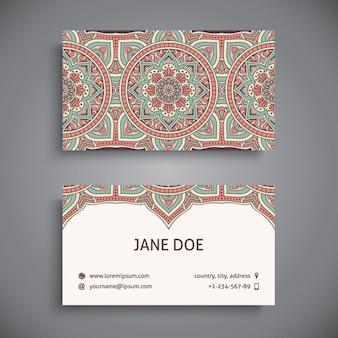 Diseño de tarjeta de visita de estilo boho