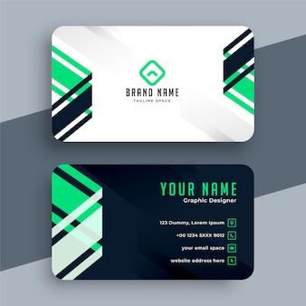 Diseño de tarjeta de visita geométrica de estilo moderno