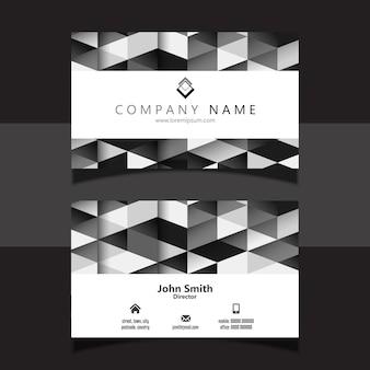 Diseño de tarjeta de visita geométrica