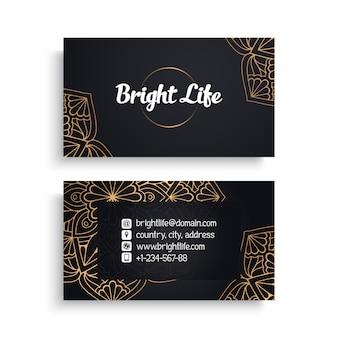 Diseño de tarjeta de visita de lujo
