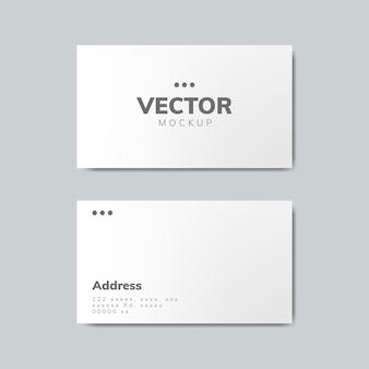 Diseño de tarjeta de visita maqueta