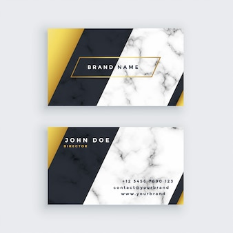 Diseño de tarjeta de visita de mármol premium