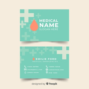 Diseño de tarjeta de visita médica