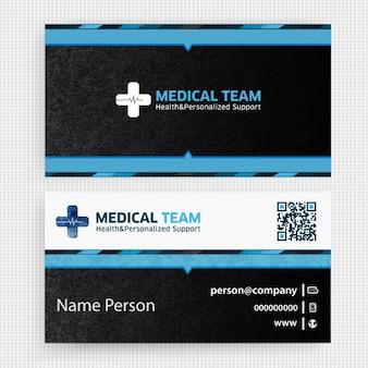 Diseño de tarjeta de visita de médico