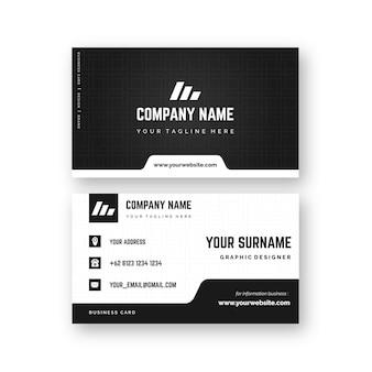 Diseño de tarjeta de visita monocromática