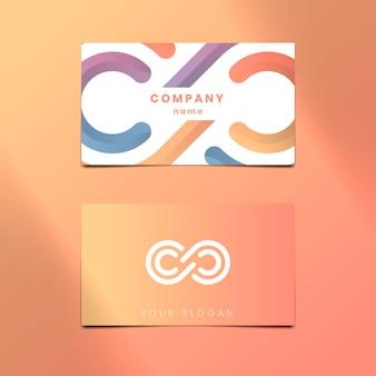 Diseño de tarjeta de visita naranja