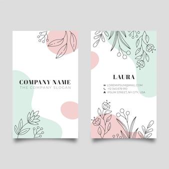 Diseño de tarjeta de visita de naturaleza
