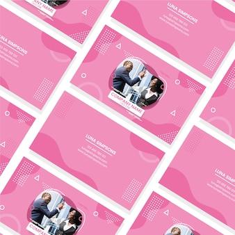 Diseño de tarjeta de visita con personas photo
