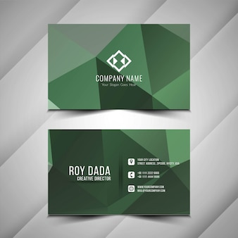 Diseño de tarjeta de visita poligonal abstracta