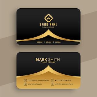 Diseño de tarjeta de visita premium royal golden