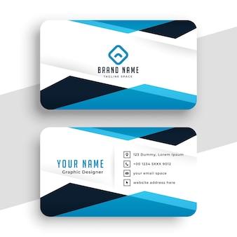 Diseño de tarjeta de visita profesional geométrica.