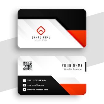 Diseño de tarjeta de visita profesional rojo moderno