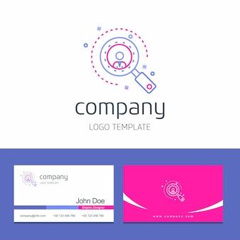 Diseño de tarjeta de visita con vector de logotipo de empresa de flechas