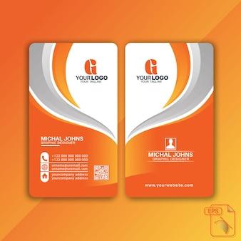 Diseño de tarjeta de visita vertical moderna