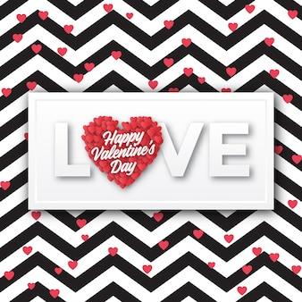 Diseño de tarjetas de felicitación del día de san valentín.