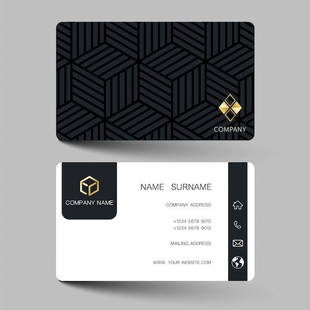 Diseño de tarjetas de visita de ilustración.
