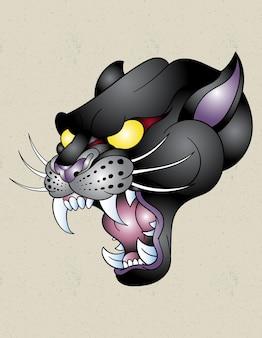 Diseño de tatuaje de pantera