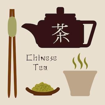 Diseño de té sobre fondo blanco ilustración vectorial