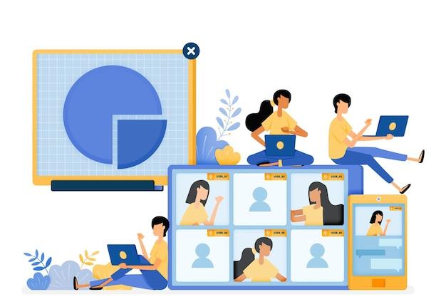 Diseño de tecnología de reuniones de negocios virtuales con servicios de comunicación móvil.