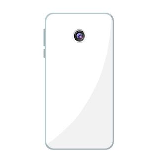 Diseño de teléfono móvil con cámara trasera.