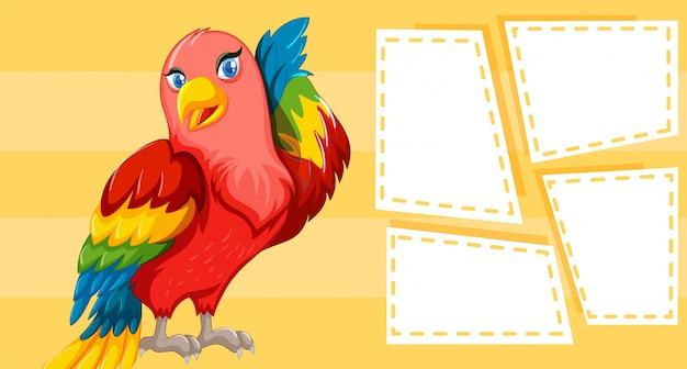 Diseño temático de aves para escribir.