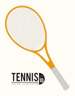 Diseño de tenis, ilustración vectorial.