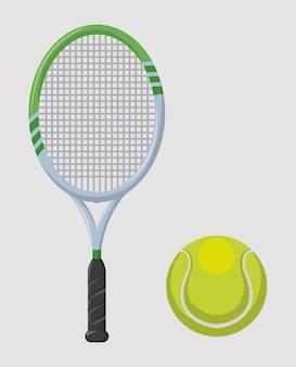 Diseño de tenis sobre fondo gris ilustración vectorial