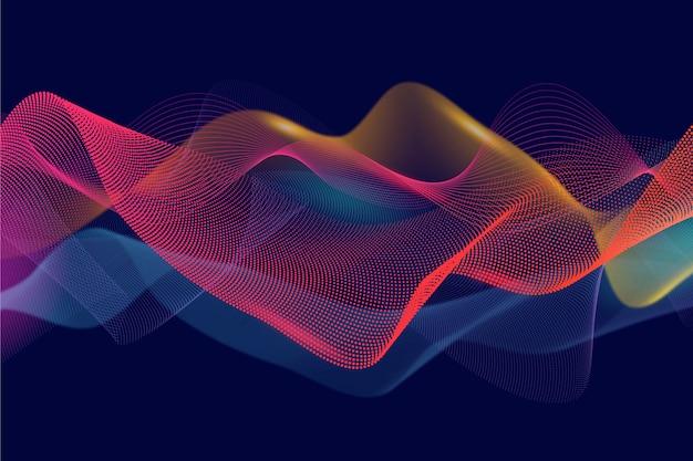 Diseño de terciopelo abstracto de fondo ondulado