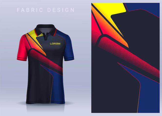 Diseño textil de tela para camiseta camiseta de fútbol