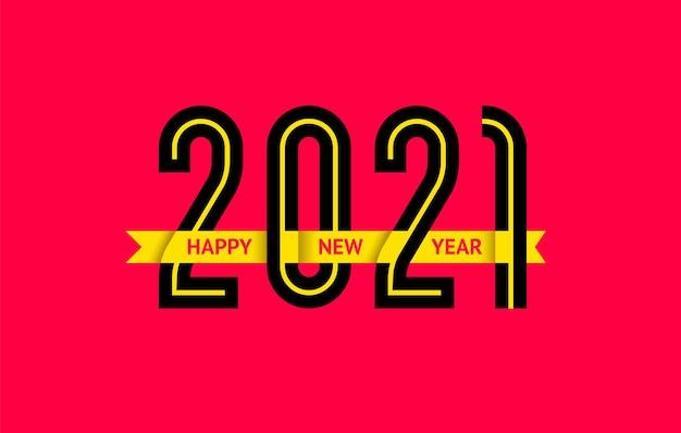 Diseño de texto de año nuevo 2021