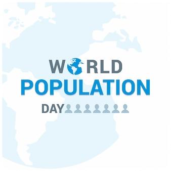 Diseño de texto para el día mundial de la población