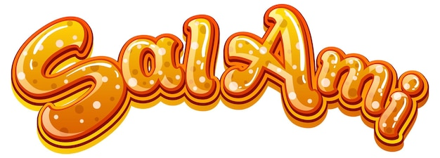 Diseño de texto del logo de salami