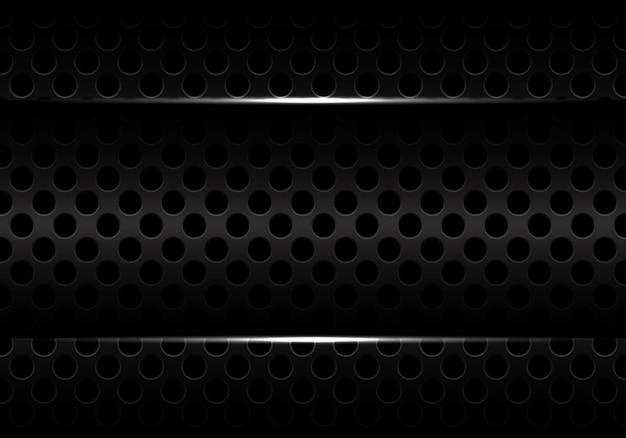 Diseño de textura de malla de círculo oscuro fondo futurista moderno.