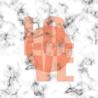 Diseño de textura de mármol con cartel de mensaje tipográfico, superficie de veteado blanco y negro, fondo lujoso moderno, ilustración vectorial