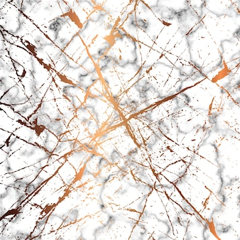 Diseño de textura de mármol con líneas de salpicaduras doradas, superficie de veteado en blanco y negro, fondo lujoso moderno