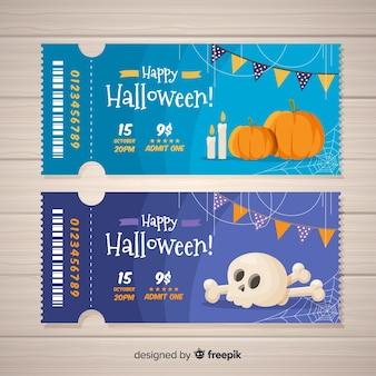 Diseño de tickets de halloween