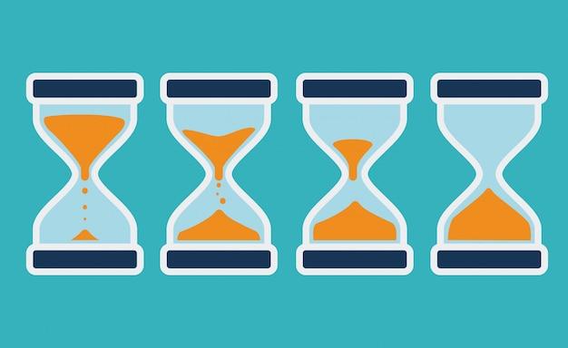 Diseño del tiempo, ilustración vectorial.