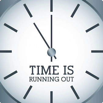 Diseño de tiempo sobre fondo gris ilustración vectorial