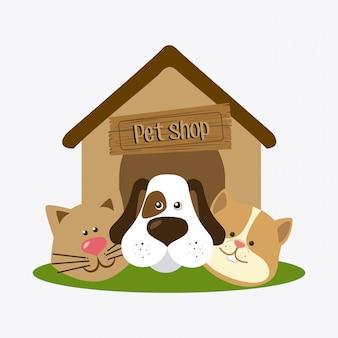 Diseño de tienda de mascotas.