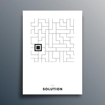 El diseño de tipografía abstracta de solución para cartel.