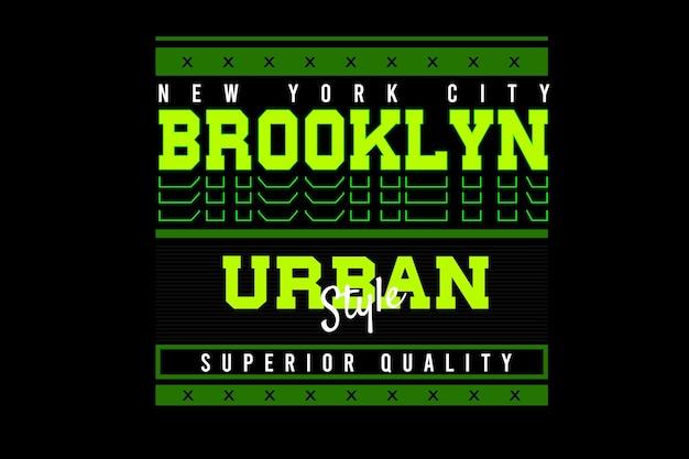 Diseño de tipografía de brooklyn de la ciudad de nueva york
