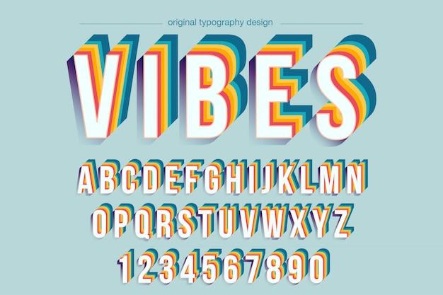 Diseño de tipografía colorida negrita vintage