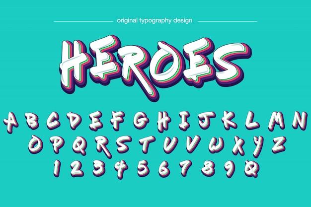 Diseño de tipografía estilo graffiti