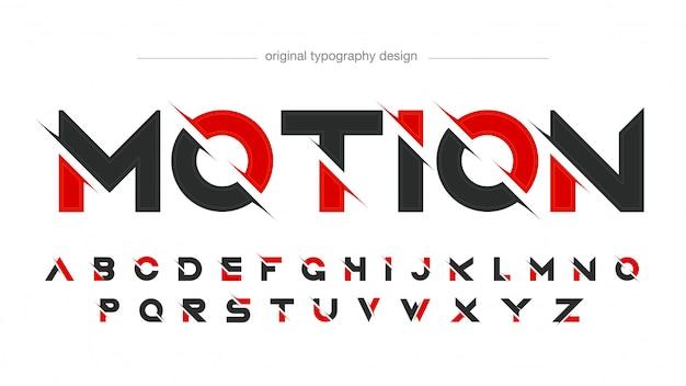 Diseño de tipografía moderna en rodajas abstracta