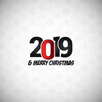 Diseño tipográfico año nuevo 2019.