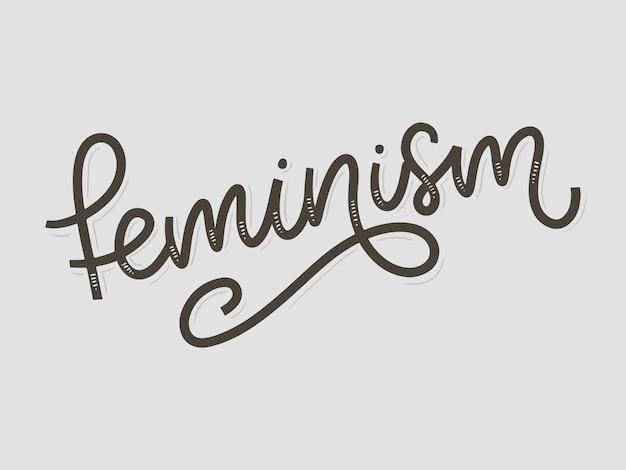 Diseño tipográfico palabra feminismo diseño de letras de tipografía.