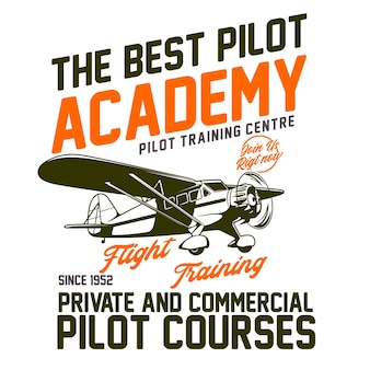 Diseño tipográfico de pilot academy