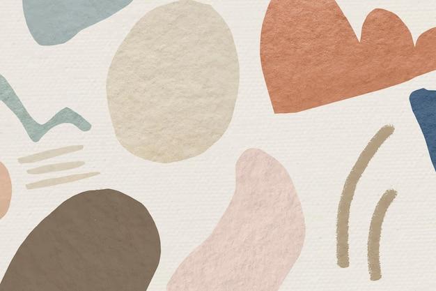 Diseño de tono de tierra de fondo estampado abstracto