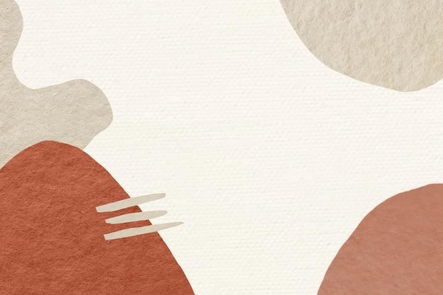 Diseño de tono de tierra de fondo de memphis