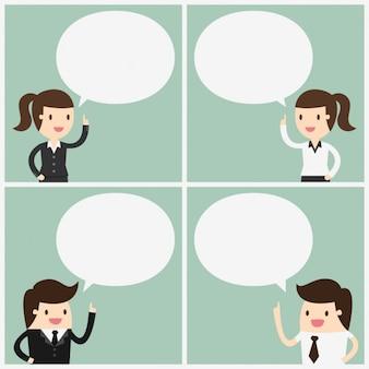 Diseño de trabajadores hablando